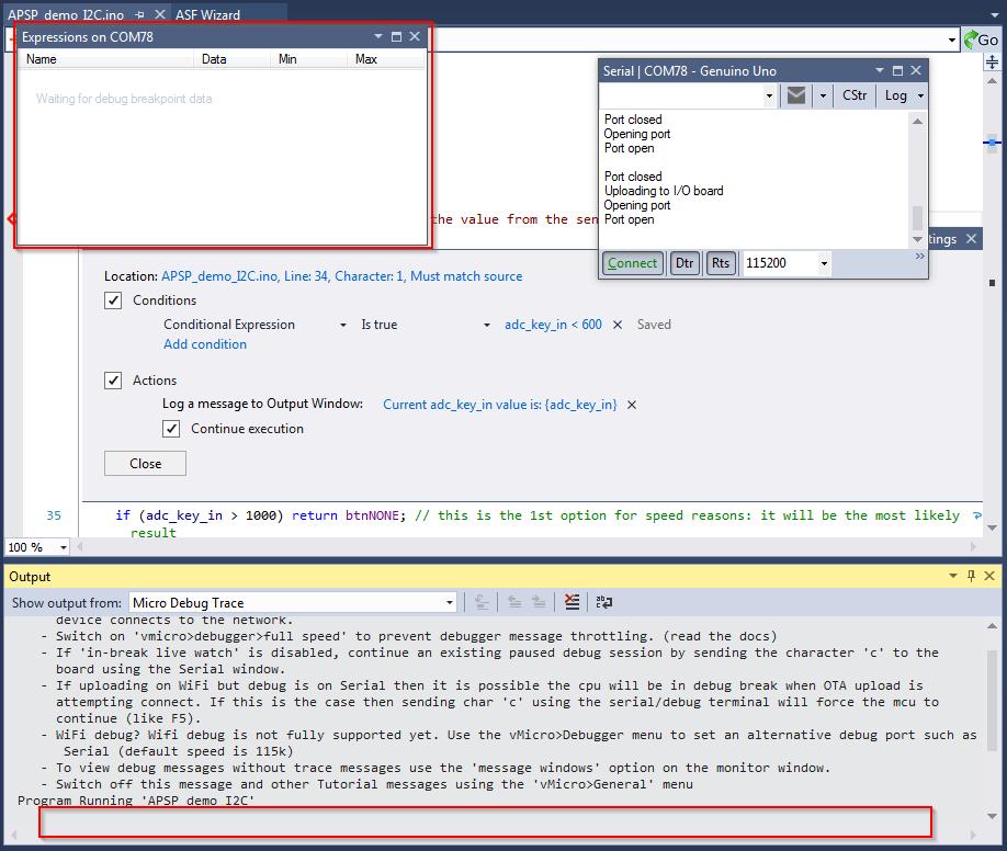 Visual Micro For Atmel Studio - Debug
