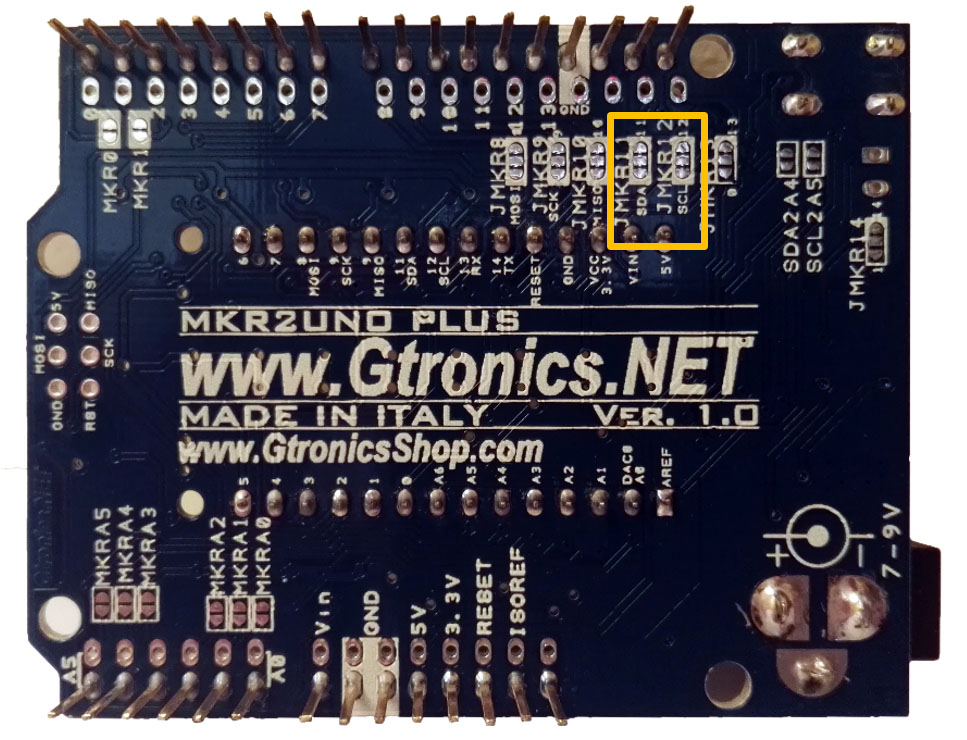 MKR2UNO I2C Jumpers