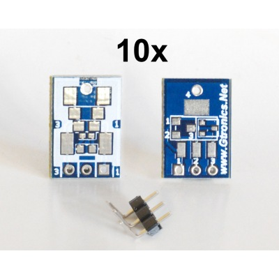 SMD to breadboard adapter (10 pcs pack)