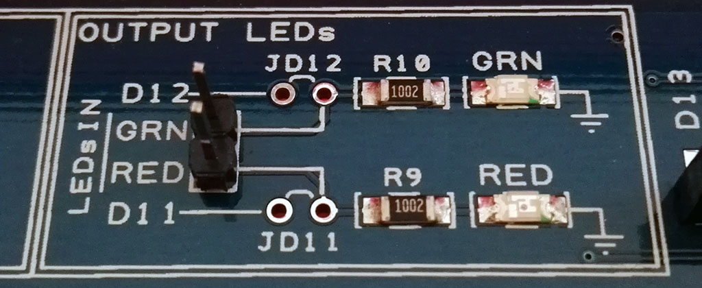 Proto Shield Plus LEDs IN pin strip