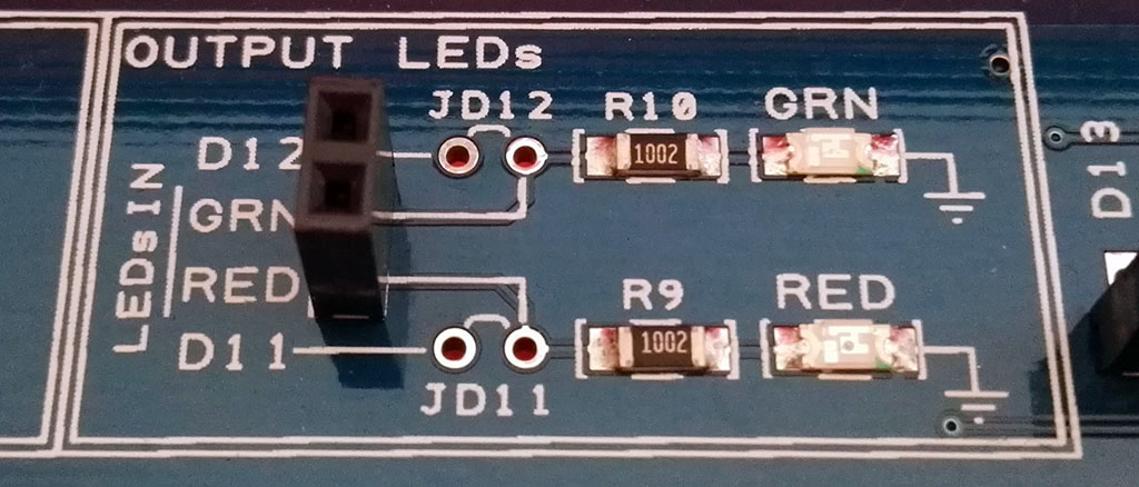Proto Shield Plus LEDs IN female header