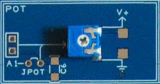 The Proto Shield Plus Potentiometer TOP view close up