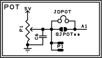 The Proto Shield Plus Potentiometer schematic diagram