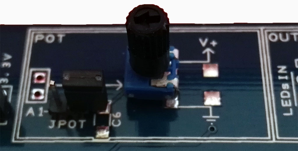 The Proto Shield Plus Potentiometer JPOT open