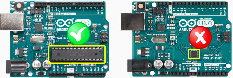 Arduino DIL and SMD