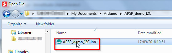 Open INO file in Atmel Studio