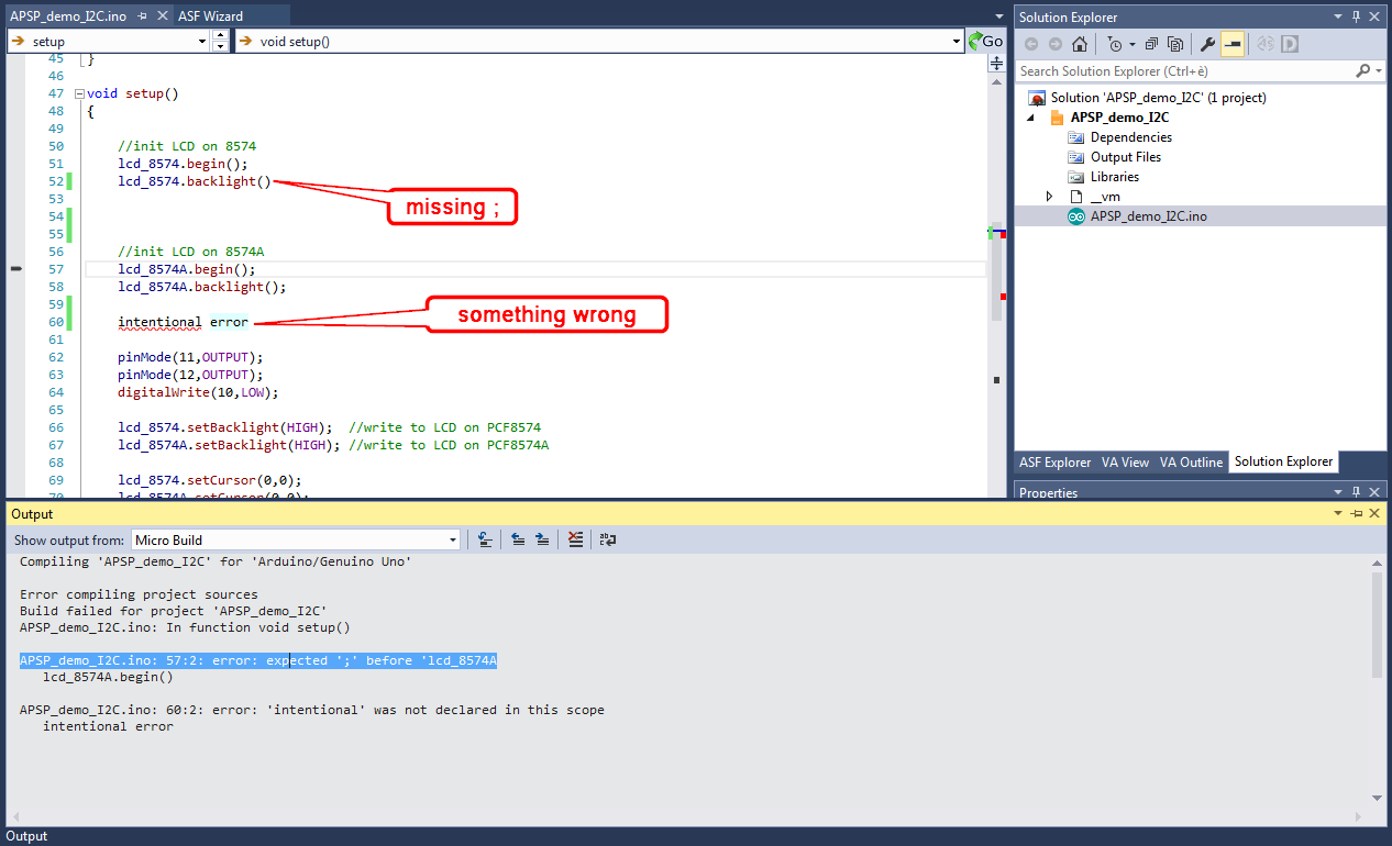 Direct jump to compiler errors in Visual Micro for Atmel Studio