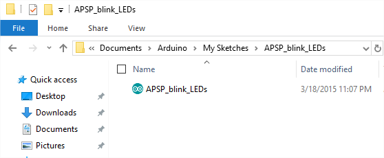Open an existing Arduino file