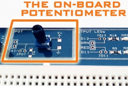 The Proto Shield Plus on-board Potentiometer