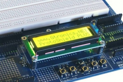 Using an LCD display with the Proto Shield Plus - I2C configuration