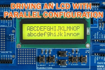 Using an LCD display with the Proto Shield Plus - Parallel configuration