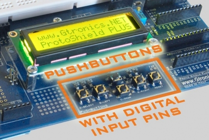Using the Proto Shield Plus pushbuttons with digital inputs